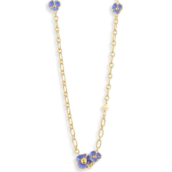 9c32bd6615aa Tory Burch Fleur Faux Pearl Rosary Necklace